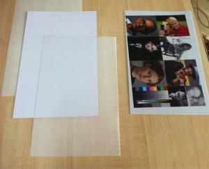 PVC paper card A4 size 3