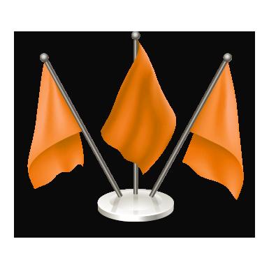 Triple Top Flagpole – Golden & Silver 2